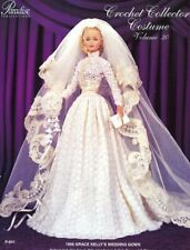 1956 Grace Kelly's Wedding Gown for Barbie Doll Paradise #30 Crochet Pattern New