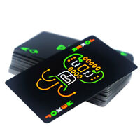 Black Luminous Fluorescent Poker Cards Playing Card Glow In The Dark Bar Pa M9M6