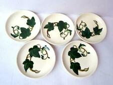 Super Rare Metlox Poppytrail Ivy Coasters White and Green California Pottery