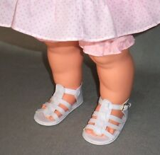 White Strappy Sandals for Big Kissy Doll