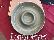 Longaberger Woven Trad. Sage Chip & Dip Bow - New - with original box