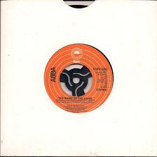 "Abba The Name Of The Game + I Wonder (Depature) Large Jukebox Hole UK 45 7"" sgl"