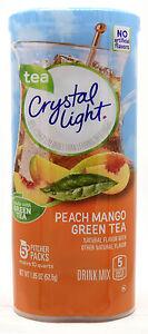 12 10-Quart Canisters Crystal Light Peach Mango Green Tea Drink Mix