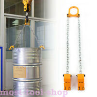 TOP! 2000 LBS Chain Drum Lifter, 2000 lbs Capacity, Vertical Drum Lifter YELLOW