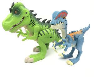Playskool Heroes Jurassic World T-REX B0537 & DILOPHOSAURUS B0540 lights & sound