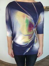 """Freesoul Shirt """"Annette"""" blau, asymmetrischer Schnitt, 3/4 Arm Gr. S neuwertig"""