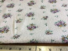 PURPLE FLORAL LIGHTWEIGHT FLANNEL-VINTAGE- BY THE YARD