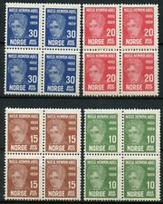 NORWAY SCOTT#145/48  SET OF  BLOCKS  OF FOUR MINT EVER HINGED
