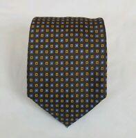 Luciano Barbera Designer Brown 100% Silk Neck Tie 60L 3.5W Made in Italy