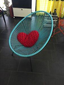 OK Design Acapulco Chair Stuhl Sessel hellblau