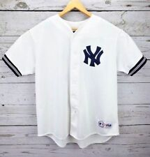 New York Yankees Vintage Sewn Wade Boggs #12 White Blue Jersey Majestic 2XL XXL