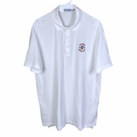 Winged Foot US Open 2020 Polo Golf Shirt Large White Red Cotton Short Sleeve