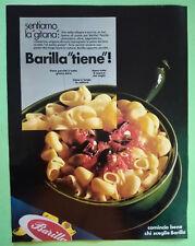 Pubblicita'Advertising Werbung Vintage BARILLA/RINO PRESOTTO camera 1969(A17)