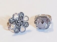 2 Piece Brighton Mixed Style Ring Lot - Approx. Size 8