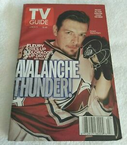 Colorado Avalanche Theo Fleury TV Guide June 5-11, 1999