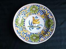 Old hand painted fajance large dish/bowl. 31.5 cm diameter.