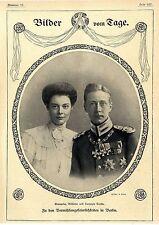 Vermählungsfeierlichkeiten in Berlin Kronprinz Wilhelm und Herzogin Cecilie 1905