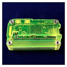 Zebra Zero GPIO Laser Lime Case for Raspberry Pi Zero 1.3 & Zero Wireless C4Labs