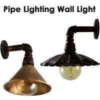 Vintage Industrial Loft Rustic Steampunk Metal Waterpipe Wall Lights Lampshade