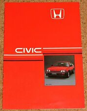 1985 HONDA CIVIC CRX COUPE 1.5 Sales Brochure - Excellent Condition