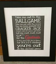 St. Louis Cardinals FRAMED Take Me Out to the Ballgame Music Lyrics MLB all star
