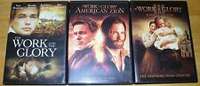 The Work & The Glory TRILOGY! ALL 3 DVDs - NEW or MINT! LDS MORMON HISTORICAL