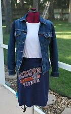 Auburn Tigers War Eagle Game Day A line Skirt Upcycled T-Shirts Medium