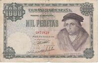 BILLETE DE ESPAÑA DE 1000 PTAS DEL AÑO 1946 DE LUIS VIVES (RARO Y DIFICIL)