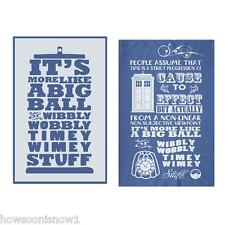Doctor Who Pack of Two Tea or Dish Towels TIMEY WIMEY New - 2 Different Designs