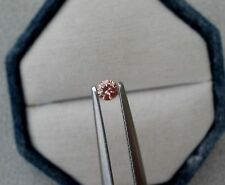 Pink Natural Diamond Loose Faceted Round 3mm SI Quality