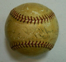 1937 Chicago Cubs Team Signed Official National League Baseball Hartnett Grimm