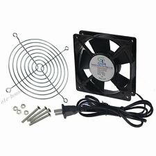 120mm 25mm Fan Cord Guard New Case Cabinet Fan 220V 240V AC 55CFM Sleeve Bearing