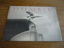 HUMBER PULLMAN, EIGTHEEN AND SNIPE PRESTIGE BROCHURE FOR 1937