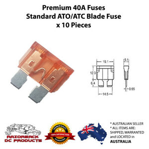 10pcs 40 Amp High Quality Standard Blade Fuse ATC/ATO 40A Orange PREMIUM QUALITY