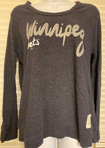 Retro Brand NHL Winnipeg Jets Women's Pullover Sweatshirt Small