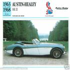 AUSTIN-HEALEY MK III 1963 1968 CAR GREAT BRITAIN GRANDE BRETAGNE CARD FICHE