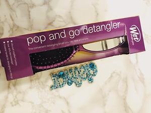 NEW Wet Brush-Pro Pop and Go Detangler - Purple