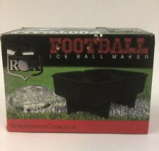 2 Football Ice Ball Cube Maker, Great for Game Parties,Whiskey,Tea,or Spirits.