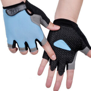 Cycling Non-Slip Breathable Bicycle Gloves Gel Pad Men Women Half Finger Glo J2