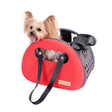 Ibiyaya Bubble Hotel Semi-transparent Pet Carrier for Cats and Small Dogs - Red