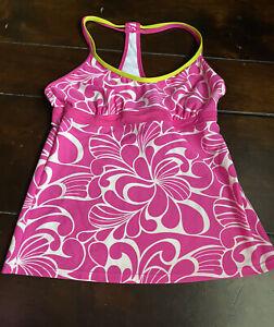 Athleta Pink tankini top, women's size medium