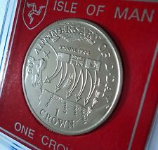 2004 Isle of Man D-Day WWII The Normandy Landings Plan Map Crown Coin (BU) Gift