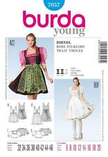 BURDA SEWING PATTERN LADIES FOLKLORE DIRNDEL DRESS SIZE 6 - 20 7057