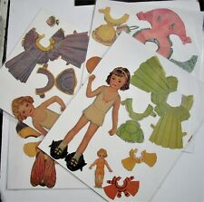 Vintage Paper Dolls- 2 dollsw/wrap around cloths - pre-cut