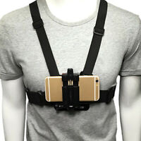Lovoski Chest Mount Harness Strap Holder with Cell Phone Clip for iphone