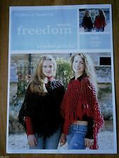 "CROCHET PATTERN TWILLEYS 9006 FREEDOM WOOL PONCHO 32-40"" BN USE ANY SUPER CHUNKY"