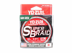 Yo Zuri Duel P.E Line Super Braid 150YDS 30Lbs (0.28mm) Green R1259-DG
