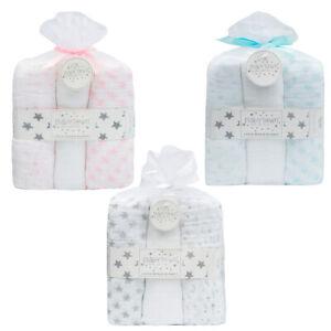 Newborn Cotton Muslin Square Burp Cloth Nappy Wipe 3 Pack Swaddle Blanket 76x76