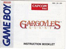 Gargoyle's Quest (Nintendo Game Boy, 1990) GAME MANUAL ONLY! (1)