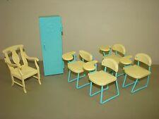 Barbie School Desks Teacher Chair Locker furniture